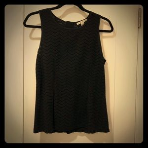 Banana Republic Fitted Black Lace Sleeveless Top